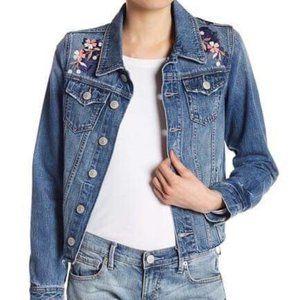 True Religion demin jacket womens floral- [S]